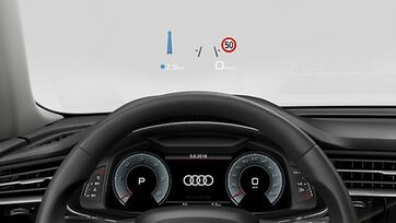 Audi Q8 Head-up Display Detailansicht